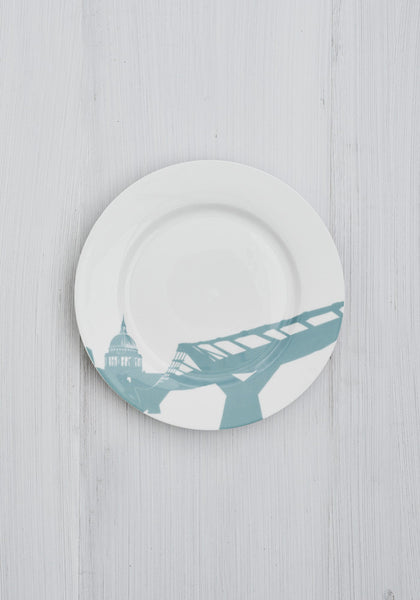 St Pauls/Millennium Bridge Side Plate - Snowden Flood Shop