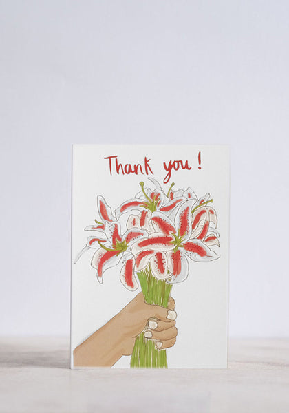 Thank You Lillies Greeting Card
