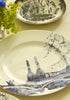 Battersea Power Station Toile Dinner Plate - Snowden Flood shop