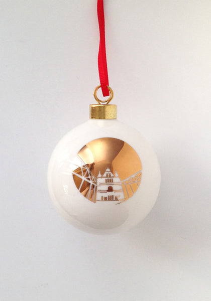 Tower Bridge Bauble in Gold - www.snowdenflood.com