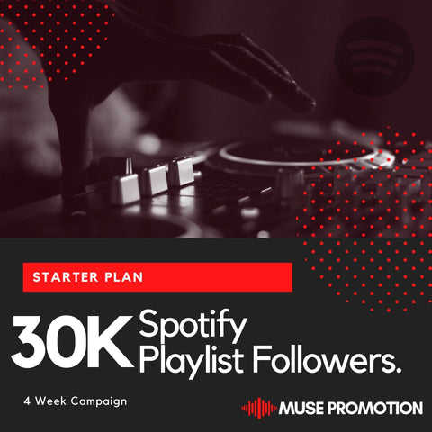 Starter Plan - Pitch to 30K Playlist Followers