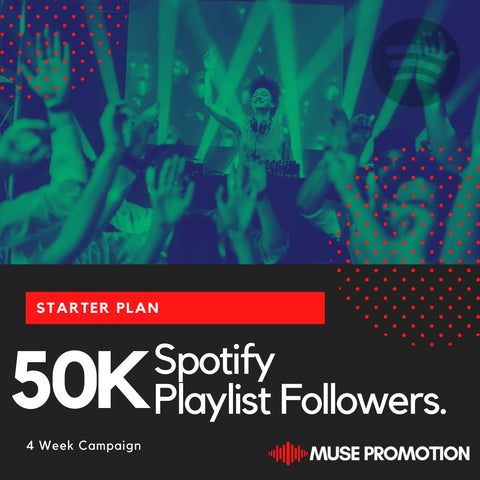 Starter Plan - Pitch to 50K Playlist Followers