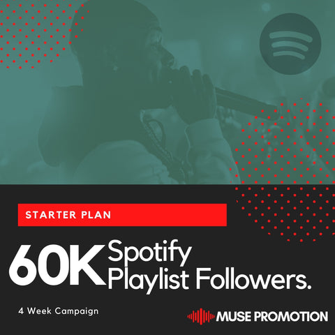 Starter Plan - Pitch to 60K Playlist Followers