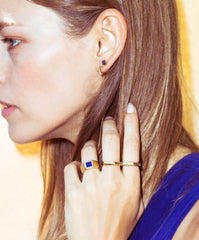 Gold double nut ring - Wilhelmina Garcia