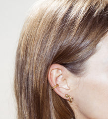 Gold spiky earrings - Wilhelmina Garcia