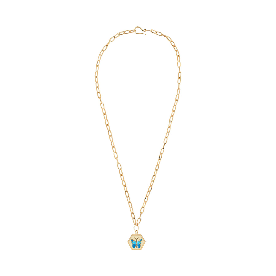 Gold Butterfly Necklace - Wilhelmina Garcia