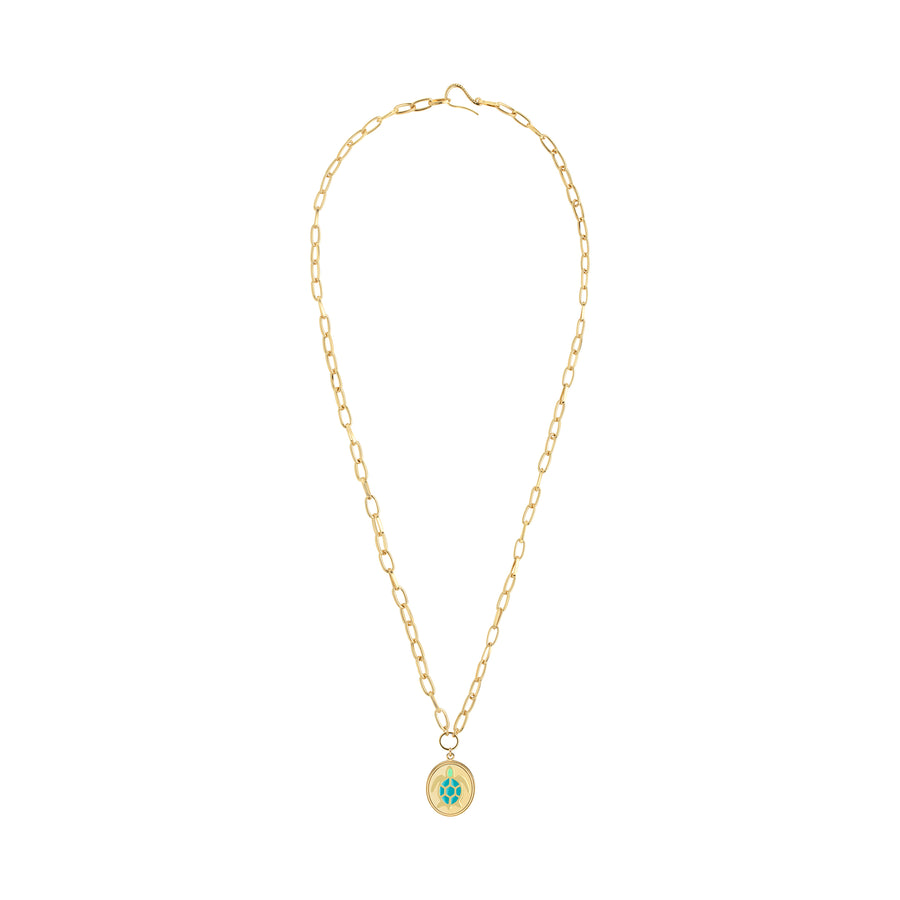 GOLD TURTLE NECKLACE - Wilhelmina Garcia