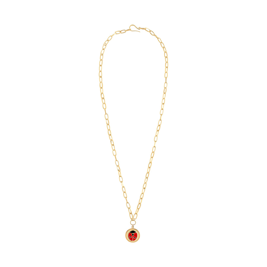 Gold Ladybug necklace - Wilhelmina Garcia