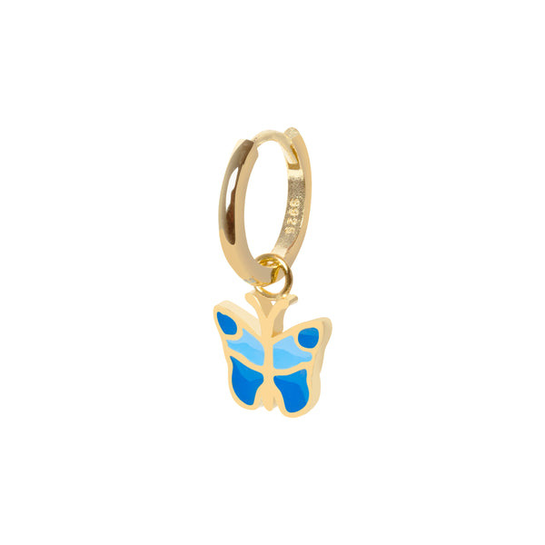 Gold butterfly earring - Wilhelmina Garcia