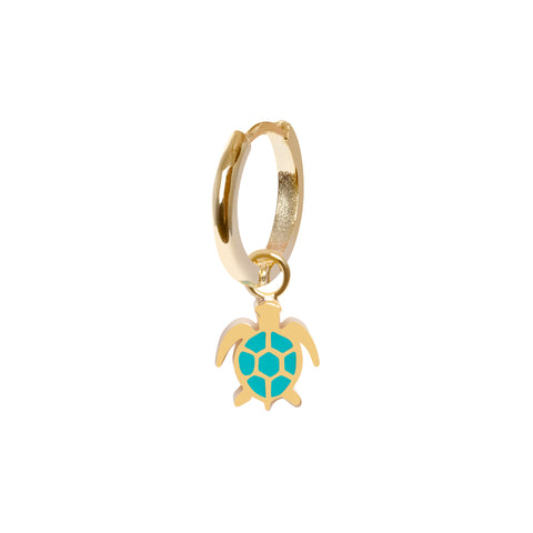 Gold turtle Earring - Wilhelmina Garcia