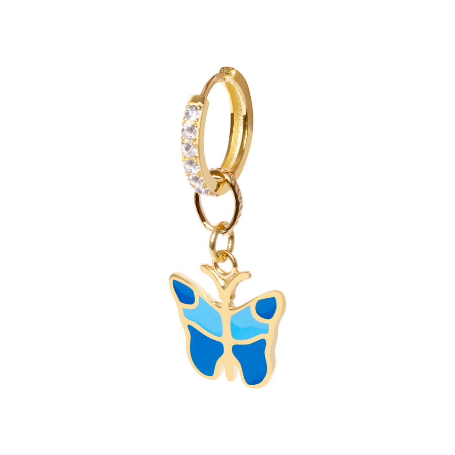 Gold Butterfly big Earring - Wilhelmina Garcia