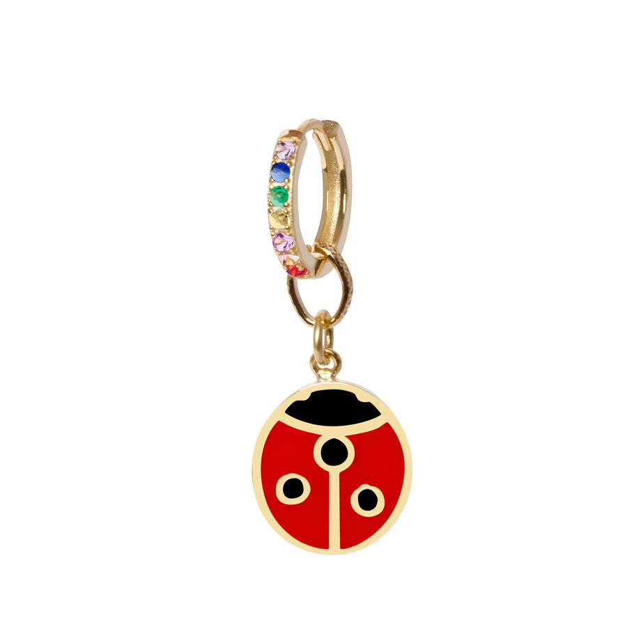 Gold Ladybug big Earring - Wilhelmina Garcia