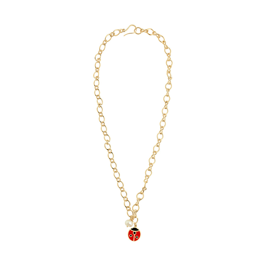Gold Ladybug twin necklace - Wilhelmina Garcia