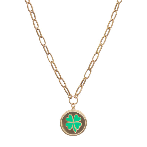 Gold clover necklace - Wilhelmina Garcia