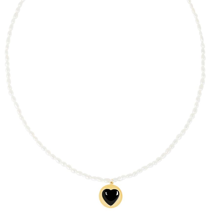 Heart And Pearl Dating Necklace