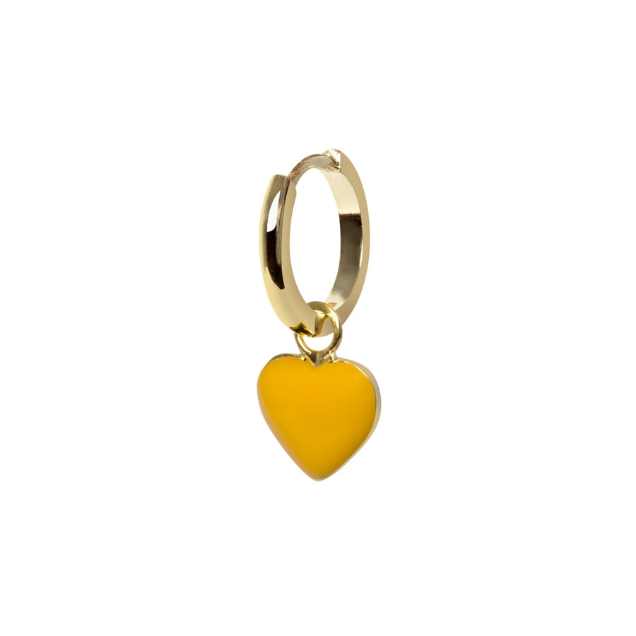 Gold Yellow Heart Earring