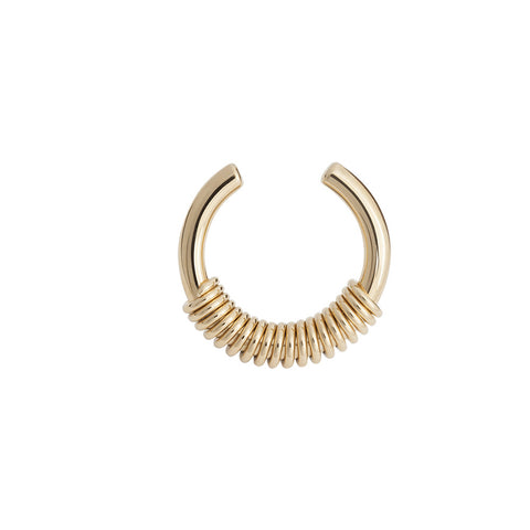 Gold thick spiral ring - Wilhelmina Garcia