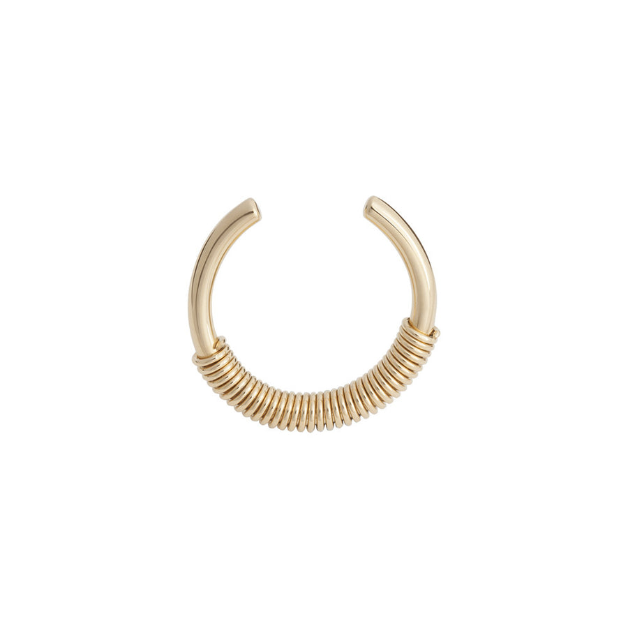 Gold thin spiral ring - Wilhelmina Garcia