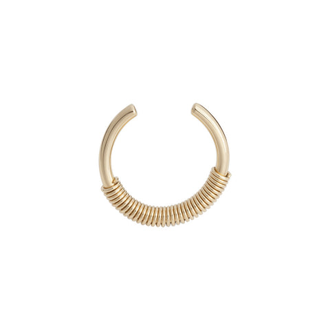 Gold thin spiral ring