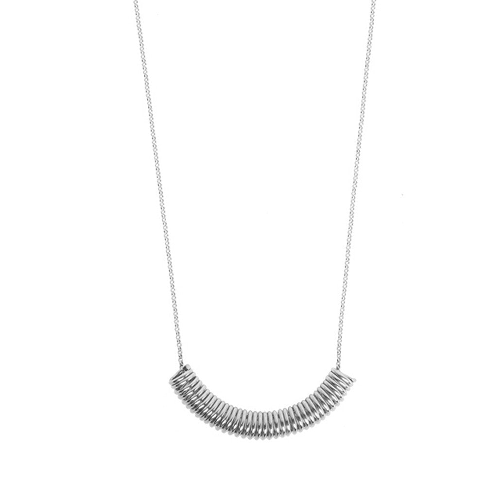 Silver spiral necklace - Wilhelmina Garcia