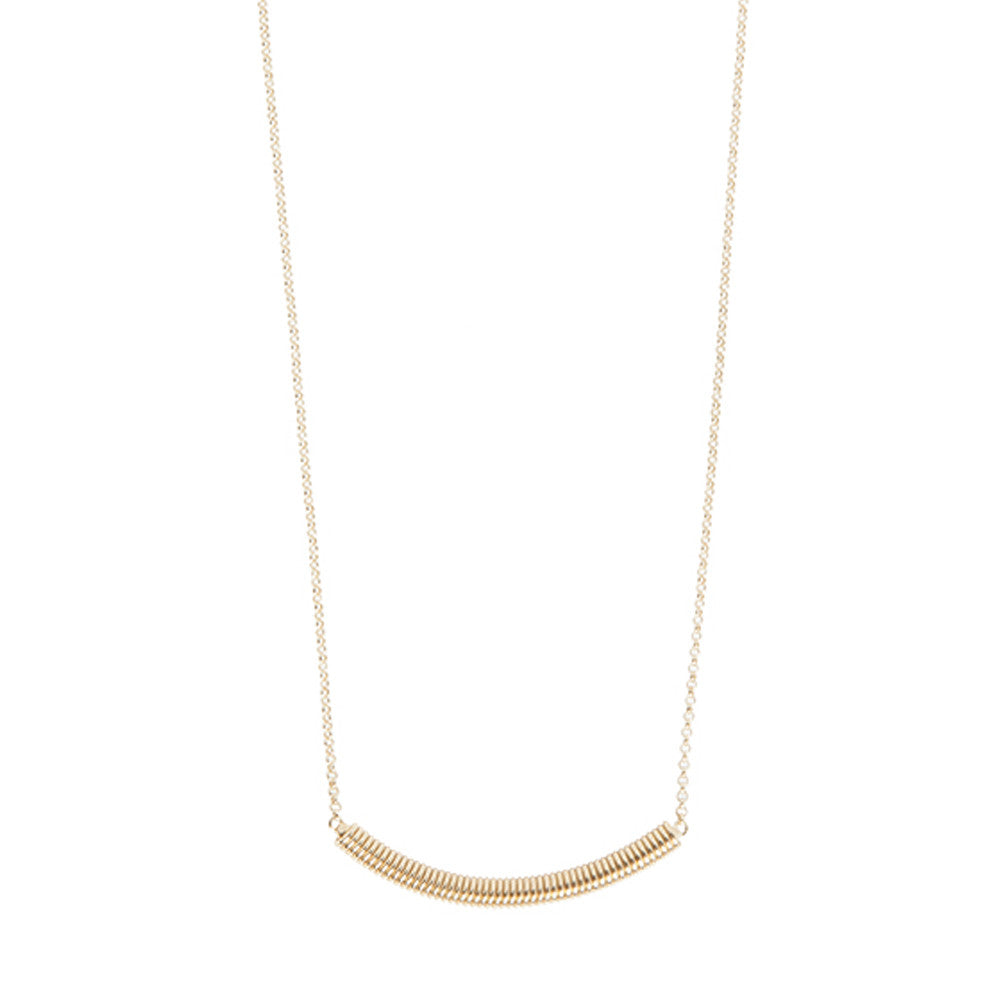 Gold small spiral necklace