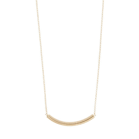 Gold small spiral necklace - Wilhelmina Garcia