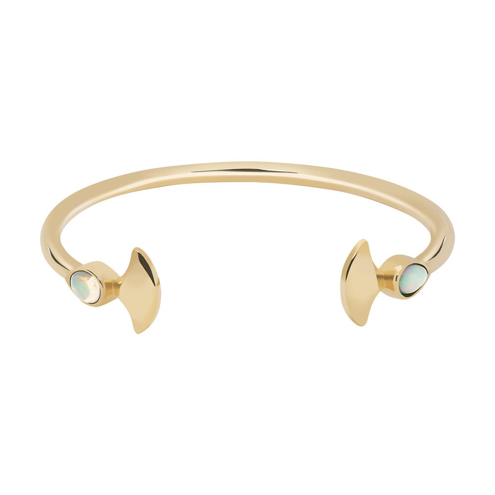 Gold mermaid opal cuff - Wilhelmina Garcia