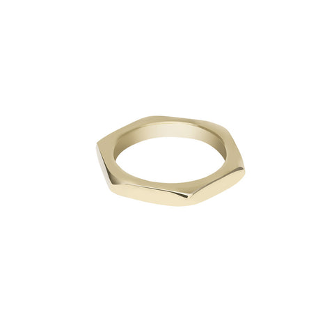 Gold nut ring - Wilhelmina Garcia