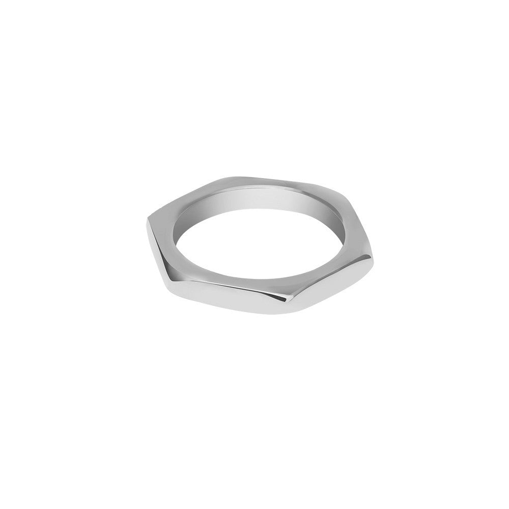 Silver nut ring