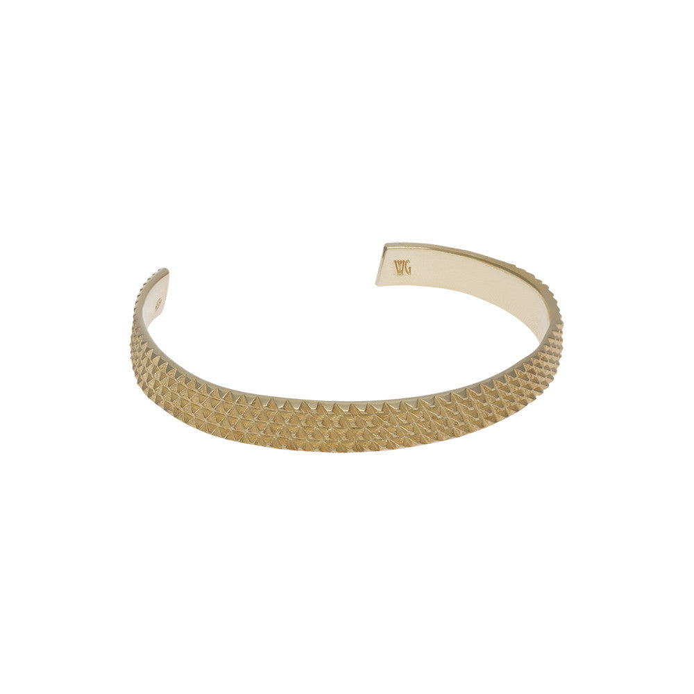 Wilhelmina Garcia: Gold spiky nut cuff | Jewelry > Bracelets,Jewelry -  Hiphunters Shop