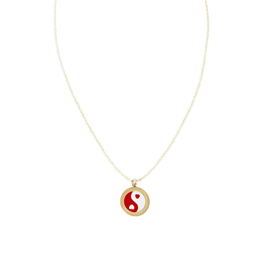 Gold YinYang Skinny Chain Necklace
