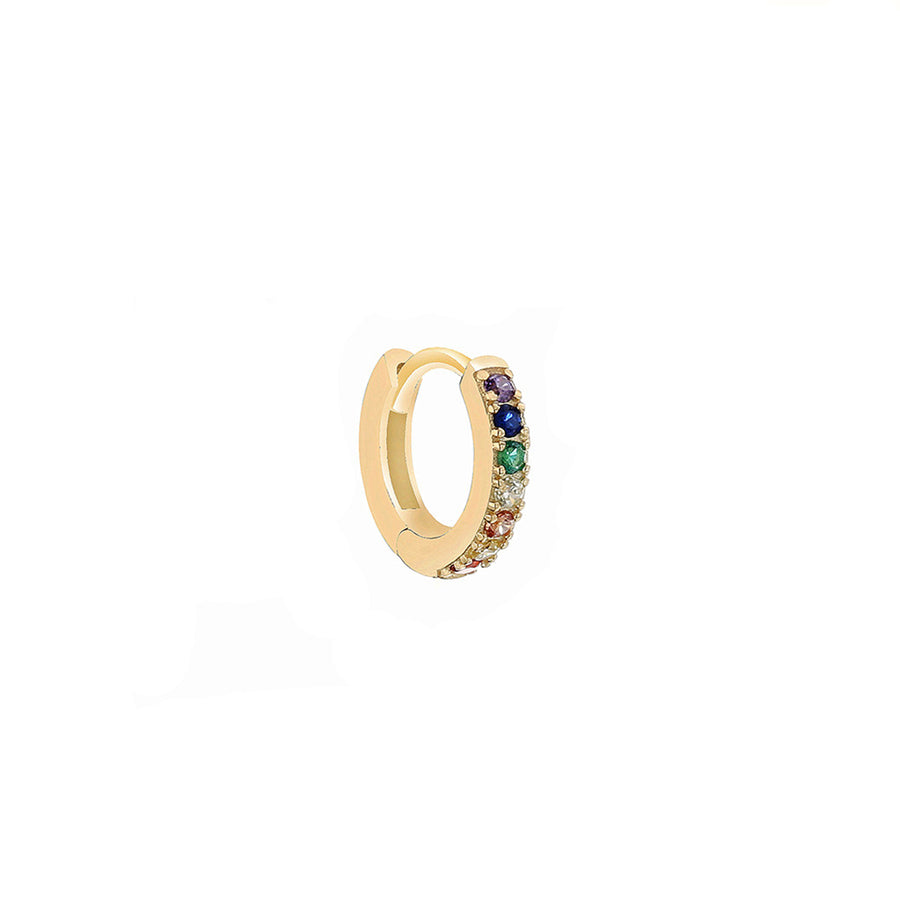 Mini hoop rainbow earring - Wilhelmina Garcia