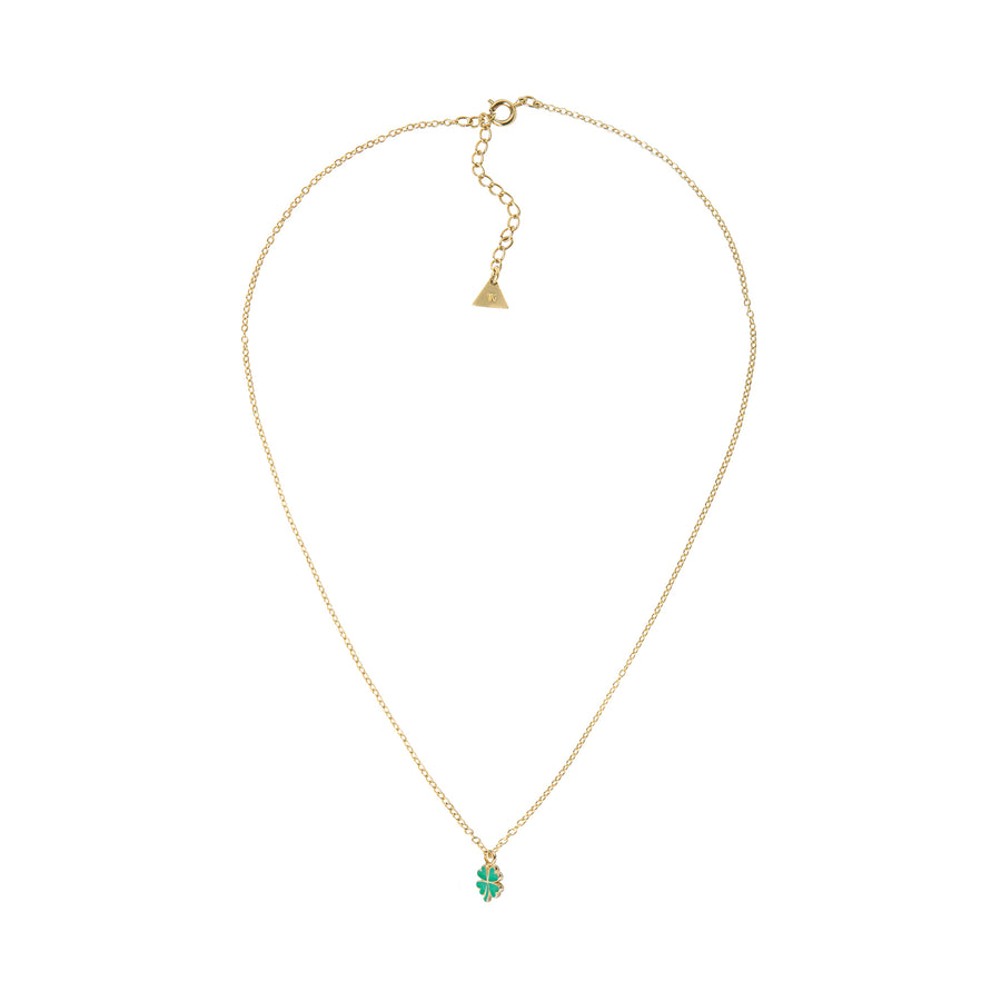 Gold Petite Clover Necklace