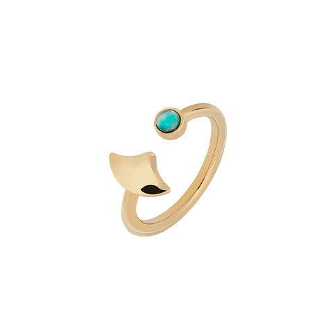 Gold mermaid opal ring - Wilhelmina Garcia