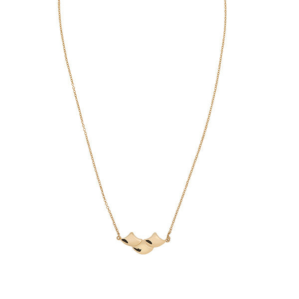 Gold mermaid scales necklace - Wilhelmina Garcia