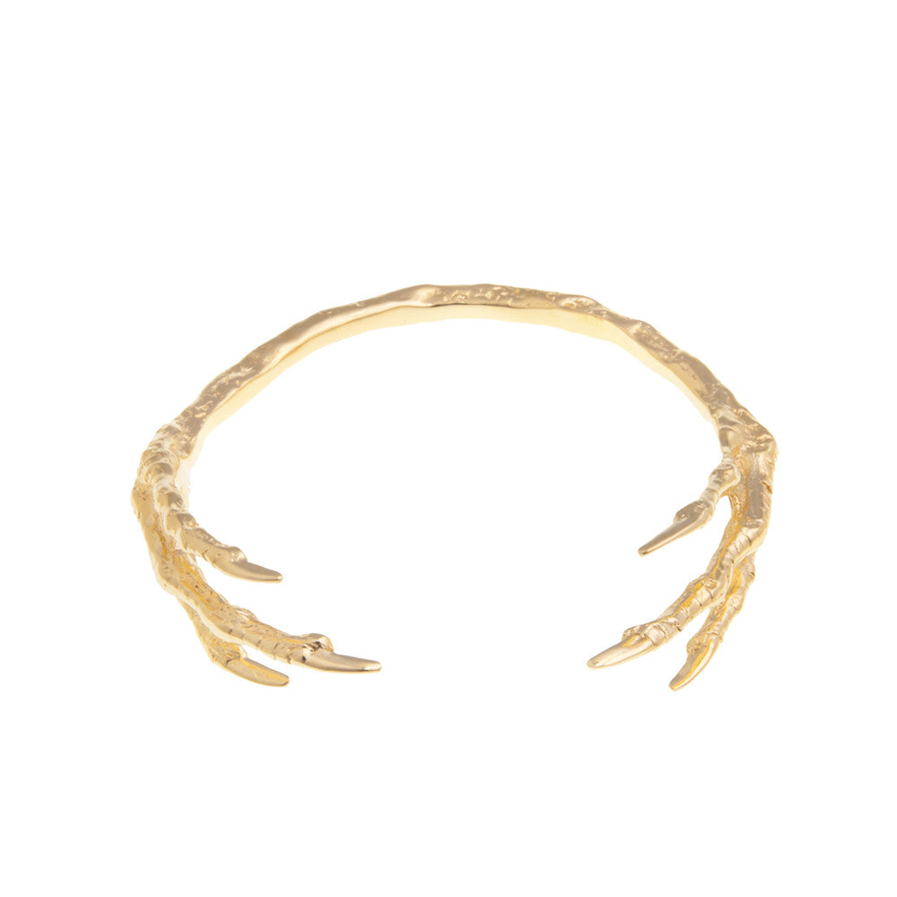 Wilhelmina Garcia: Gold bird claw cuff | Jewelry > Bracelets,Jewelry -  Hiphunters Shop