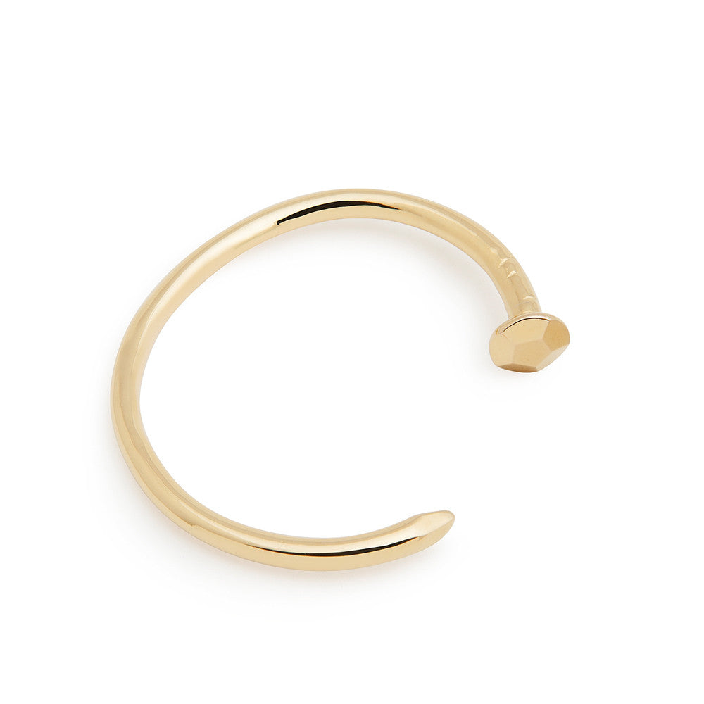 Gold nail cuff - faceted