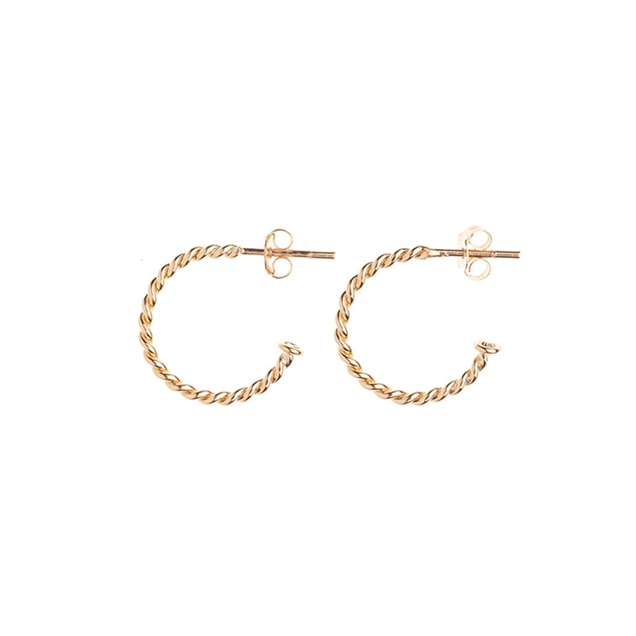 Gold rope earrings - Wilhelmina Garcia