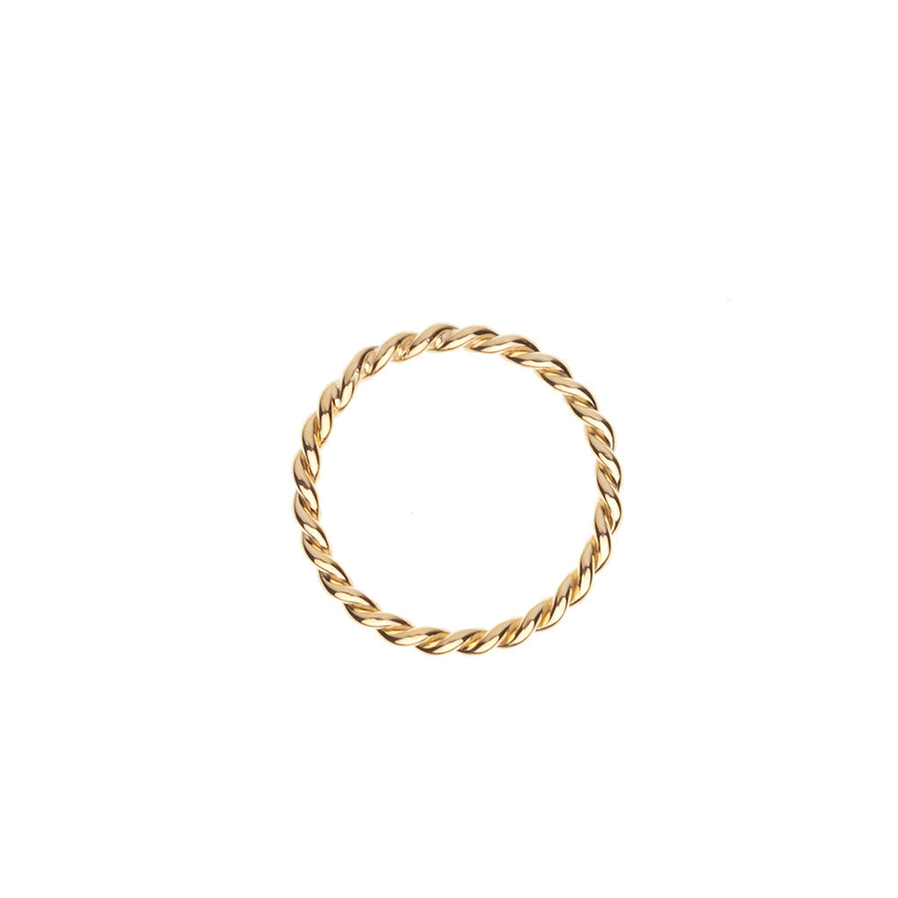 Gold rope ring