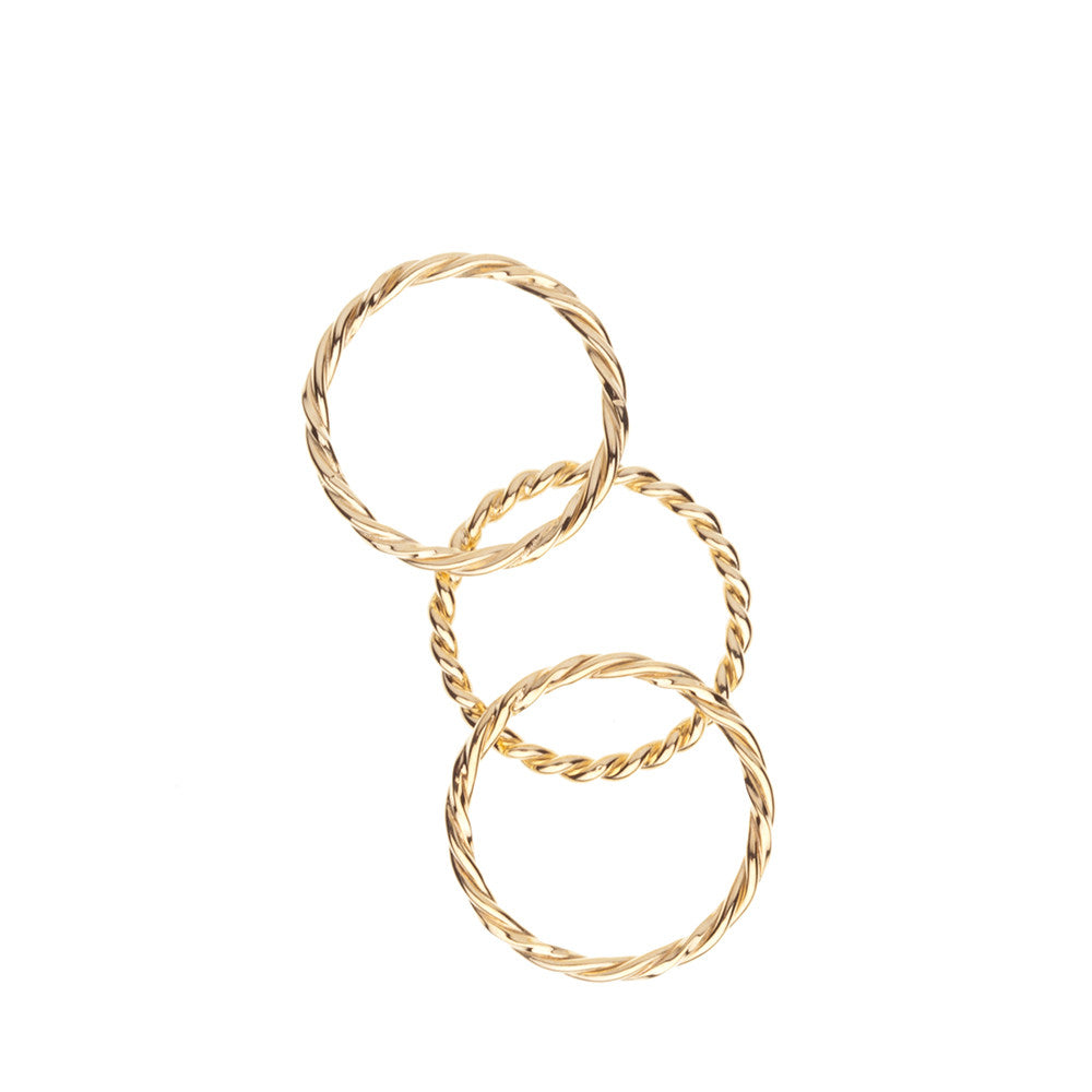 Gold rope ring - Wilhelmina Garcia