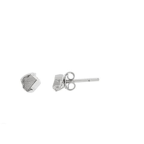 Silver crystallize petite earrings - Wilhelmina Garcia