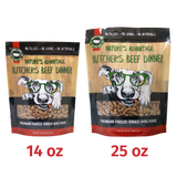 Butcher's Beef Dinner Grain Free limited ingredient beef Dog Food - Size of Bag Comparison