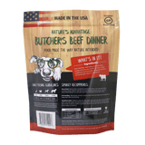 Butcher's Beef Dinner Grain Free Limited Ingredient Beef Dog Food - Back of Bag