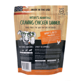 Craving Chicken Dinner Chicken Dog Food - Back of Bag