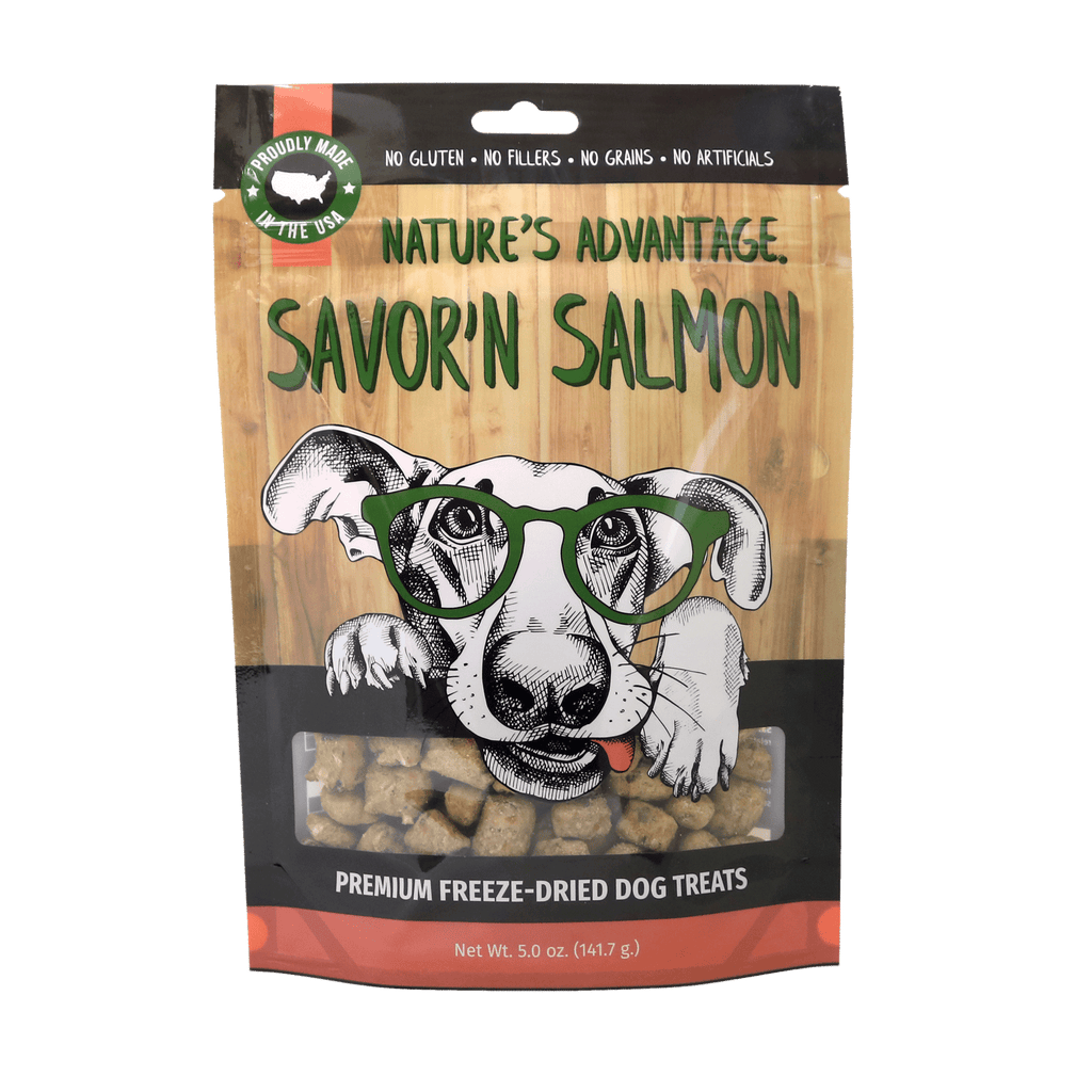 Savor'n Salmon Dog Treats, dog training treats, healthy dog treats