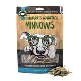 Minnows Grain Free Dog Treats - Bag and Product