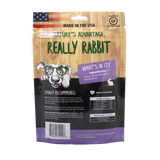 Really Rabbit Grain Free Rabbit Dog Treats, rabbit for dogs - Back of Bag