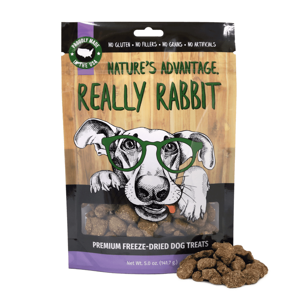 Really Rabbit Grain Free Rabbit Dog Treats, rabbit for dogs - Bag and Product