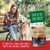 Beefy Bites Grain Free Beef Dog Treats - pure ingredients