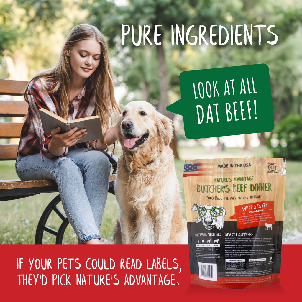 Butcher's Beef Dinner Grain Free Limited Ingredient Beef Dog Food - pure ingredients